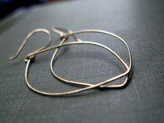 Gold Leaf Earrings  Hoops In 14K Gold Filled