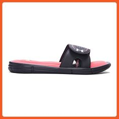 Under Armour Women's Ignite VII Slides, Black/Sirens Coral, 8 - Athletic  shoes