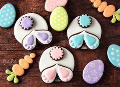¿Cómo hacer galletas de azúcar decoradas conejito del vago de Pascua - decoración de galletas tutorial