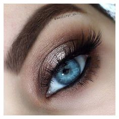 31 Eye Makeup Ideas for Blue Eyes ❤ liked on Polyvore featuring beauty products, makeup, eye makeup and eye's