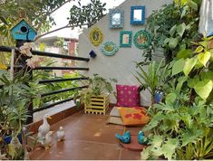 Theme this week is Plants Outdoors. We would love to see your front/back yard, … Terrace Decor, Terrace Garden Design, Small Balcony Decor, Balcony Plants, Home Garden Design, Balcony Design, Balcony Garden, Balcony Decoration, Balcony Ideas