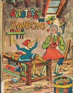 Aventuras de Pinocho / C. Collodi ; [dibujos del texto, Piti Bartolozzi ; dibujos de guardas y cubierta, Lopezandres]. -- Madrid : Gahe, [1960] D.L. M 12143-1960 (vol.1)  * BPC González Garcés  ID 17 Fondo infantil de reserva