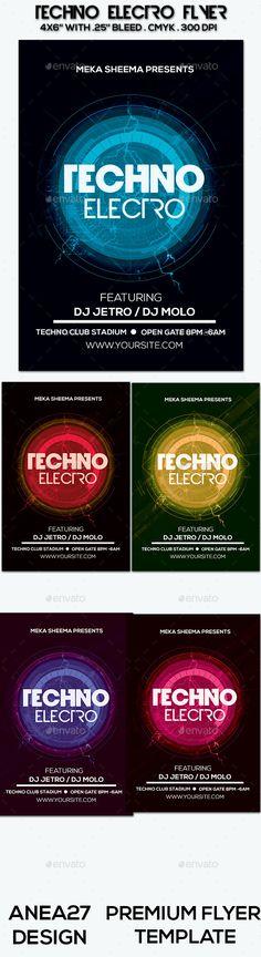 Electro Music Flyer Bundle Vol 20 - electro flyer