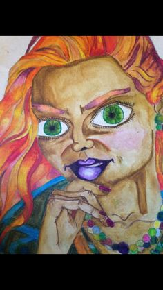 Inktense pencils creating bold colours