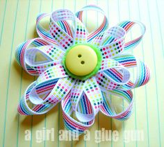 fun with ribbons!!!! - A girl and a glue gun