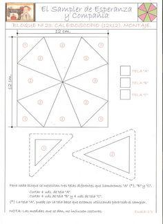 Patrones del Sampler caleidoscopio
