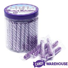 Grape Sweet Spindles Mini Hard Candy Sticks—Yum! Gold Candy, Green Candy, Purple Candy Buffet, Unicorn Surprise, Wholesale Candy, Birthday Sweets, Glass Candy Jars, Types Of Candy, Christmas Coloring Pages