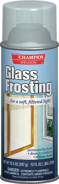 Glass Frosting - we did this on the sidelights on either side of our front door - we used painter's tape to make a reverse design. It has held up really well - 14+ years! mpc