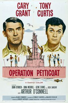Opération Jupons - 1959 - Blake Edwards - Cary Grant, Tony Curtis - 1er vrai long métrage de Blake Edwards. Comédie délirante, même si elle peut paraître gentille aujourd'hui. La suite sera la Panthère Rose, The Party, Boire et Déboires. Mais les ingrédients sont déjà là. Note: 6/10