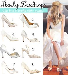 No Plain Jane - The season's prettiest bridal white shoes