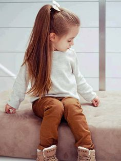 adorable, baby girl, book, casual, cute, little fashionista, ponytails, sweatshirt