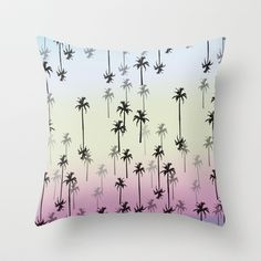 palm tree Throw Pillow by ALABAMA PROJECT - $20.00  http://society6.com/haizeita/birds-qq1_pillow#25=193&18=126