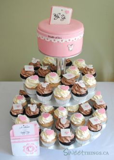 CupcakeTower Girl baby shower cupcake tower