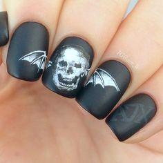 #nail #nails #nailart avenged sevenfold manicure ?? Fuck yes I need this now