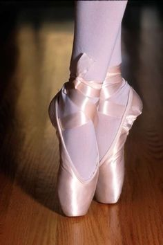 Ugh... I wish my pointe shoes stayed this pretty and glossy!