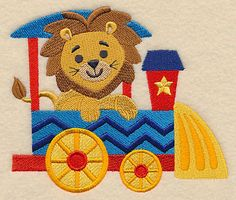 Safari Train - Lion design (M3227) from www.Emblibrary.com