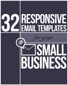 32 Responsive Email Templates for Your Small Business - Email Marketing - Start your email marketing Now. - Give your email marketing campaigns a smart redesign for mobile and make sure they work across all devices. Marketing Digital, Email Marketing Design, Email Marketing Campaign, Email Marketing Strategy, Mobile Marketing, Email Design, Internet Marketing, Content Marketing, Online Marketing
