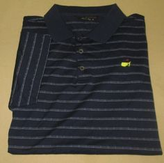 Men's Augusta National Golf Club Golf Shirt Sz XL  - Blue Stripe - THE MASTERS #ClubhouseCollection #PoloRugby