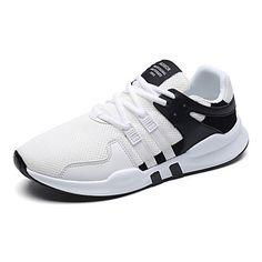 the best attitude a8dac 89fc6   29.99  Hombre Zapatos Tejido Primavera Verano Suelas con luz Confort  Zapatillas de deporte para Casual Al aire libre Blanco Negro Negro blanco