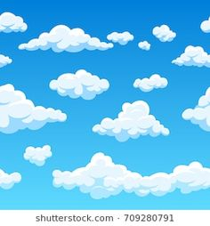 Seamless Background, Vector Background, Sassy Wallpaper, Boat Vector, Cloud Drawing, Cartoon Clouds, Paper Backdrop, Cute Doodles, Stencil Designs