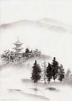 pen and wash landscapes - Google Search