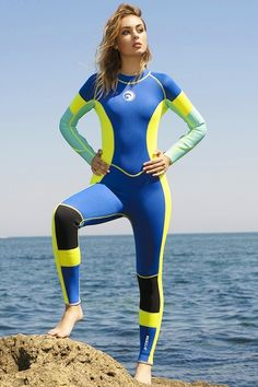 Shop The Best Range Of Womens Wetsuits. It Can Also Keep You Warm In Cold Water, Preventing Coral Scratches And Jellyfish Attacks During Diving. Diving Suit, Women's Diving, Diving Wetsuits, Scuba Girl, Fitted Jumpsuit, Womens Wetsuit, Sporty Outfits, Surf Girls, Sport Fashion