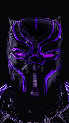 Black panther, superhero, dark, glowing mask, 720x1280 wallpaper