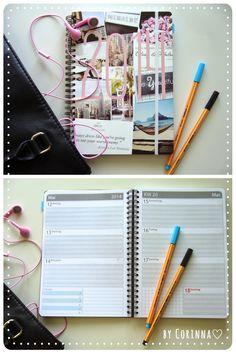 Taschenkalender selbst gestalten! Corinna bloggt ihren Kalender ♡ http://www.designerofyourlife.com/2014/03/taschenkalender-selbst-gestalten.html #taschenkalender #timer #individuell #online