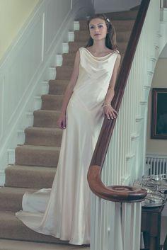 Christine Trewinnard bias cut silk gown.