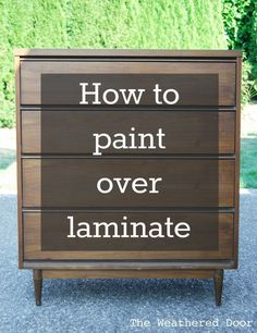 How to Paint over Laminate and why I love furniture with laminate tops (and why you should too!) #decoupagefurniture #paintedfurniturelaminate
