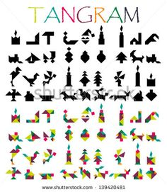 Find Tangram Figures Solutions stock images in HD and millions of other royalty-free stock photos, illustrations and vectors in the Shutterstock collection. Tangram Puzzles, Jigsaw Puzzles, Lego, Backyard Games, Toddler Learning, Math Games, Wooden Diy, Diy Toys, Math Centers