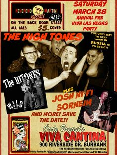 #Reverend Martini's Annual Pre #VivaLasVegasRockabillyWeekender Party with Wild Record Artists From Russia #TheHighTones and #joshhi-fisorheim and more to be announced. international friends from all over the world will show up!