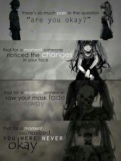 Sad anime quotes part 2 [end] Motivacional Quotes, Dark Quotes, True Quotes, Sad Anime Quotes, Manga Quotes, Anime Triste, Depression Quotes, Hatsune Miku, It Hurts