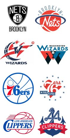 9702dd58bcef6 few examples of NBA logo redesigns created by graphic designer