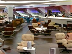 The Virgin Atlantic Lounge at Heathrow... you can get a haircut, take a nap, play videogames, plug in a guitar, watch a movie, get a massage, etc, etc