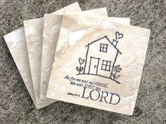 Scripture Coasters  As for me and my house we by delightfuldaisy