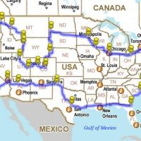How to Drive across the USA hitting all the major landmarks. This would be great to bookmark for this summer! ~