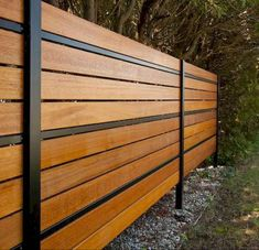 Easy Cheap Backyard Privacy Fence Design Ideas 47 - Back Yard Patio Fence, Backyard Privacy, Front Fence, Diy Fence, Backyard Fences, Garden Fencing, Backyard Landscaping, Metal Fence, Fenced In Backyard Ideas