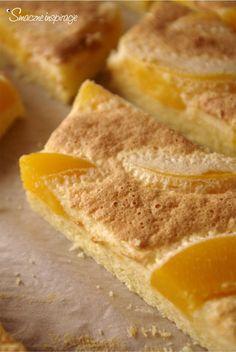 Ciasto z brzoskwiniami i jogurtową pianką (bez glutenu, gluten free)