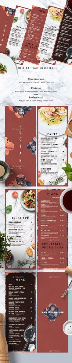Menu Template Menu templates, Menu and Photoshop