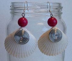 Red earrings by dbBerk on Etsy, $14.00