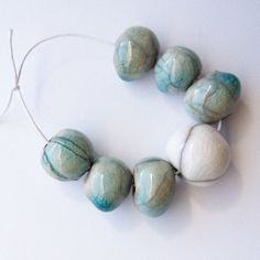 Raku Beads Raku Bead Set Handmade Raku Beads by EarthbutterStudio, $13.00