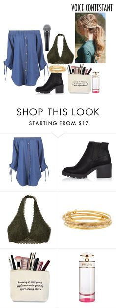 """Voice Contestant"" by ithaki ❤ liked on Polyvore featuring River Island, Hollister Co., Kate Spade, Prada, thevoice and YahooView"