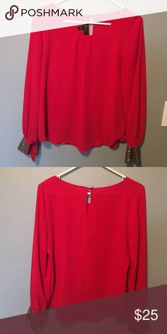 BCX Tunic. Perfect for the holidays!!⭐️🎄 Red tunic with cute cuffs. Perfect for the holidays. Used and in good condition. BCX Tops Tunics