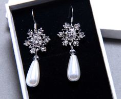 Earrings? Hey, I found this really awesome Etsy listing at https://www.etsy.com/listing/169452393/snowflake-earrings-winter-jewelry