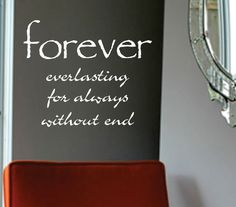 Vinyl Wall Lettering Romantic Quote Definition of Forever