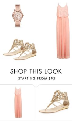 """""""Home outfit"""" by julieannbb13 ❤ liked on Polyvore featuring Miss Selfridge, René Caovilla and Michael Kors"""