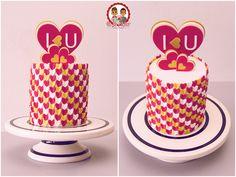 Gateau Saint Valentin - Valentine Cake - Un Jeu d'Enfant Cake Design Nantes