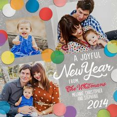 Joyfully New - New Years Cards - Petite Alma for Tiny Prints is an array of bright colors.