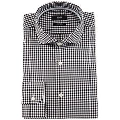 Boss Hugo Boss Jery Slim-Fit Gingham Dress Shirt (635 BRL) ❤ liked on Polyvore featuring men's fashion, men's clothing, men's shirts and men's dress shirts